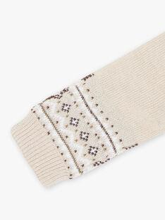 Baby boy jacquard knit scarf in beige BIRIRI / 21H4BGE2ECHA011