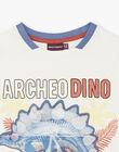 T-shirt short sleeves ecru child ZESOUAGE / 21E3PGB1TMC001
