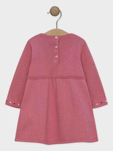 Baby rose Dress SANINI / 19H1BFE2ROB307