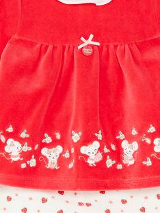 Strawberry pyjamas and mouse child girl ZECLARA / 21E5BF11PYJ050