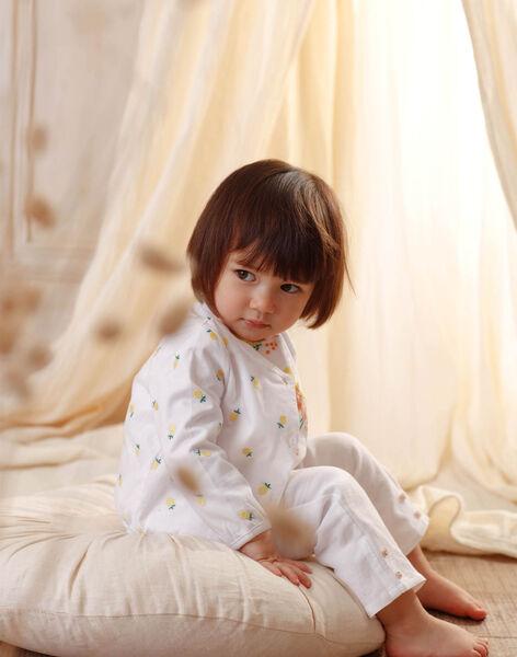 White baby girl pants ZANOOR / 21E1BFO1PAN000