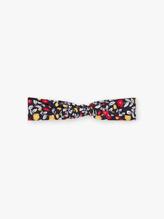 Baby girl's navy blue headband with floral print BAELSA / 21H4BF51BAN070