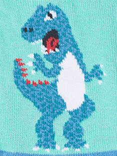 Socks in dinosaur blue contrasting colors ZAFATAGE / 21E4PGJ1SOBG621