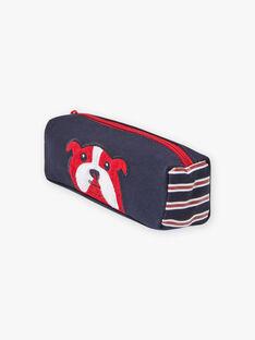 Navy blue pencil case with bulldog design for boys BETROSAGE / 21H4PG51TRO070