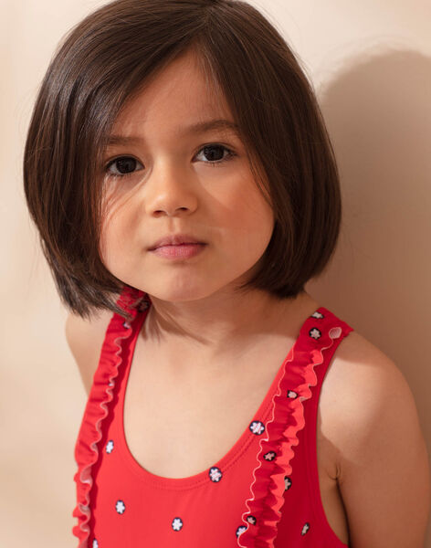 Swimsuit 1 piece red child girl ZAIZOETTE / 21E4PFR3D4K050