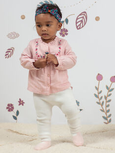 Baby girl pink embroidered blouse and leggings set BAGULIE / 21H1BF91ENSD329