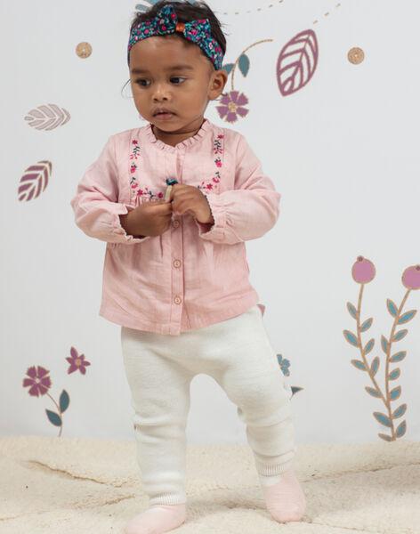 Baby girl plaid blouse and knit legging set BAGULIE / 21H1BF91ENSD329