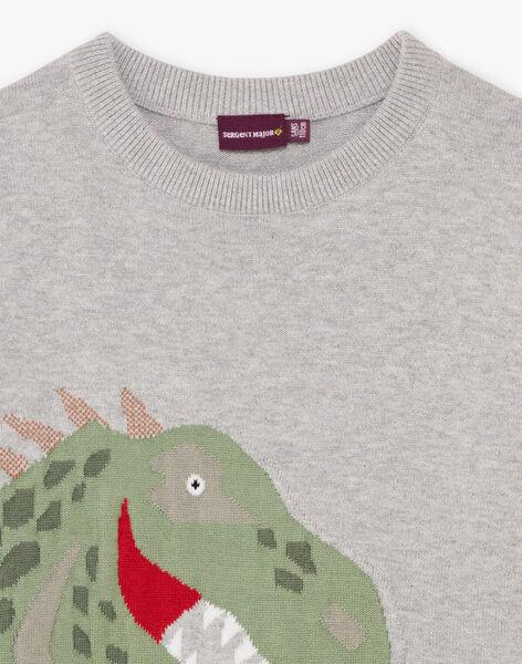 Baby Boy Grey Sweater BAMIAGE / 21H3PG21PUL943