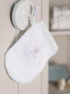 Sponge point and glove ecru with puppy motif for girls BOELI / 21H0AM41POI001