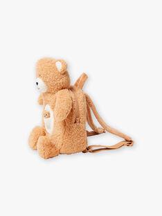 Baby boy brown teddy bear backpack BAFELICE / 21H4BG51BESI804