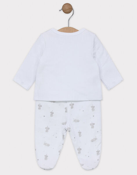 Newborn cardigan and footed trousers set. SYANDRE / 19H0NM12ENS000