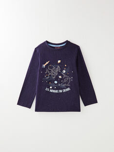Navy T-SHIRT VODILAGE / 20H3PGY1TML713