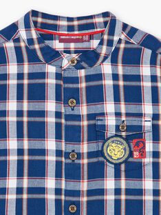 Blue and white checkered cotton twill shirt ZAGRAGE / 21E3PGI1CHM705