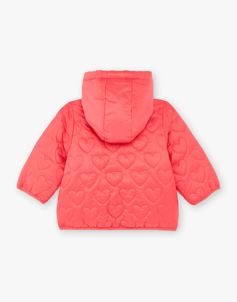 Reversible pink hooded jacket ZUALICE / 21E1BFM1D3ED327