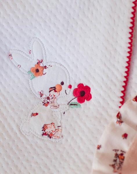 White baby girl sleep socks and bonnet ZOLOUANE B / 21E0NFY1GRE000