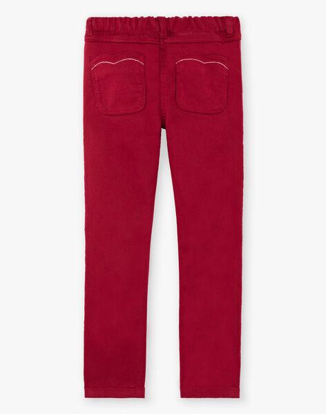 Girl's burgundy pants BROSAETTE2 / 21H2PFB1PAN719