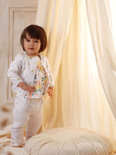 White baby girl pants ZANOOR / 21E1BFO1PAN000