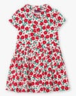 Baby girl's white and red floral print dress BABILETTE / 21H2PF11ROB001