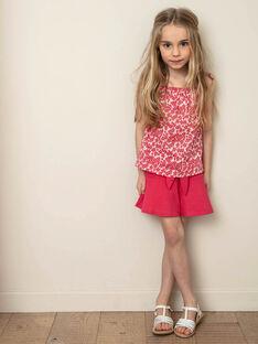Skirt fuchsia child girl ZLUCETTE1 / 21E2PFL1JUP304