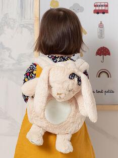 Beige rabbit backpack BAERIKA / 21H4BF51BESA011