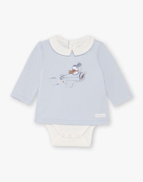 Navy and sky blue overalls and bodysuit for boys BOUBAKARI / 21H0CG41ENS070