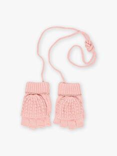 Baby Girl Pink Heart Mittens BLODUETTE / 21H4PFD1GAND300