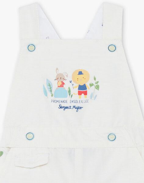 Baby Boy's Yellow and White Stripe Dungarees TYHALIL / 20E1BGZ1SACB116