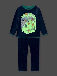 Boy's velvet ski monster pajama set BISKIAGE / 21H5PG72PYJ717