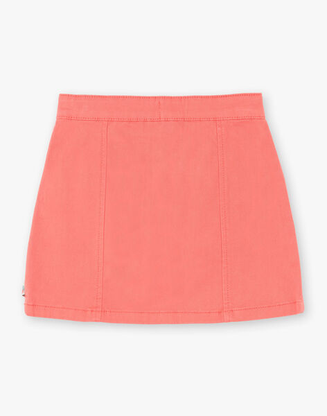 Pink trapeze skirt in cotton twill ZETOMETTE / 21E2PFI1JUP404