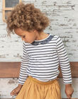 Girl's long sleeve navy blue sailor t-shirt BROMARETTE1 / 21H2PFB1TML001