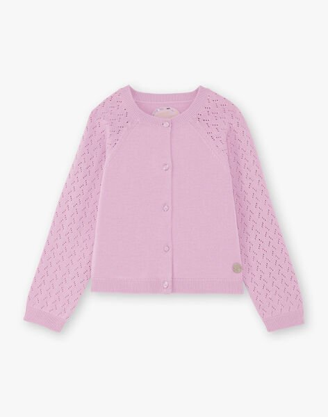 Baby girl's long sleeve openwork cardigan BECARDETTE / 21H2PF21CAR329