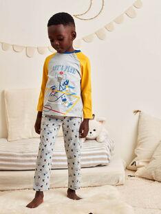 Boy's grey pyjama set with fancy print BIBASKAGE / 21H5PG73PYJ943