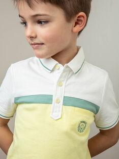 Polo shirt ecru, yellow and green child boy ZECHAGE
