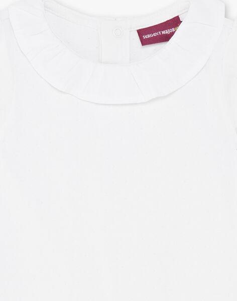 Off white short sleeved body in fancy jersey ZACAMELIA / 21E1BFI1BOD001