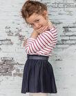 Girl's ink blue pleated skirt BROJUPETTE2 / 21H2PFB1JUPC214