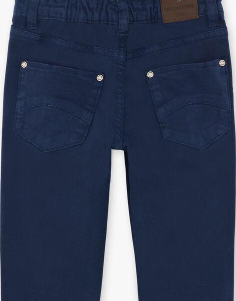 Boys' navy pants ZAZITAGE1 / 21E3PGK2PAN070