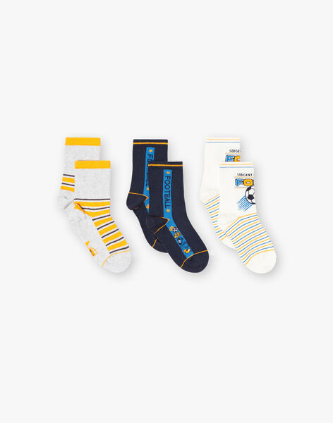 Grey PACK OF 3 PAIRS OF SOCKS ZACOPAGE / 21E4PGK1LC3J924