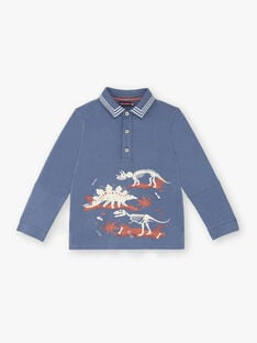 Boys' blue polo shirt ZECLOAGE / 21E3PGB1POLC230