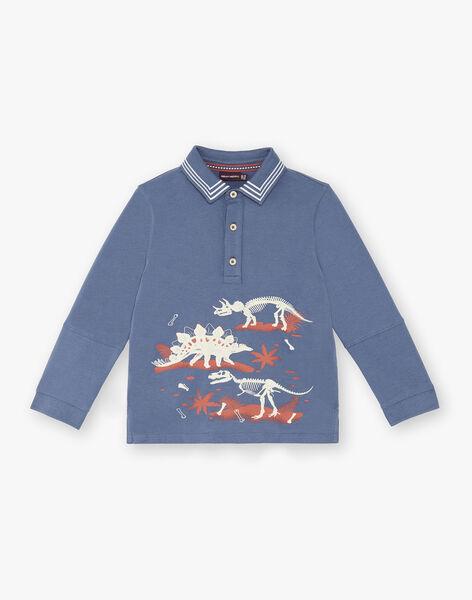 Boys' blue polo shirt ZECLOAGE / 21E3PGB1POLC230