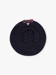 Baby girl navy blue beret BIPARFAITE / 21H4BFD3BON070