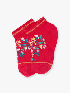 Baby girl low socks with peonies TIUFETTE / 20E4PFQ1SOBF510