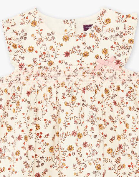 Baby girl flowery print dress BAIME / 21H1BFJ1CHS001