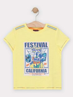 Yellow T-shirt TEJIGAGE / 20E3PGG2TMCB113