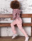 Pink jogging pants child girl BRODETTE / 21H2PF31JGBD314