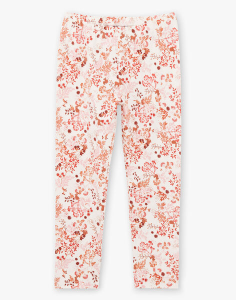 Baby girl's long sleeved pink velvet pajamas with flowery print BEBETTE / 21H5PF62PYJ312