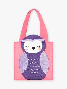 Pink phosphorescent pyjama set with Halloween motif and matching bag, child girl BEBOUETTE / 21H5PFH1PYJD331