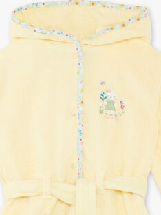 Yellow bathrobe child girl ZEPENETTE / 21E5PF11PEIB102