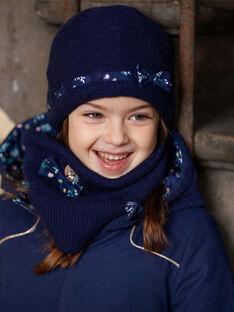 Navy blue knitted hat ZOUROVETTE / 21E4PFM1BON070