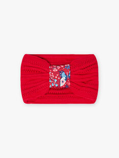 Red knitted snood child girl BLOZAMETTE / 21H4PFE2SNO308