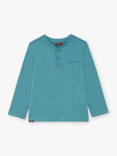 Boy's blue T-shirt BUXOLAGE2 / 21H3PGB2TML202